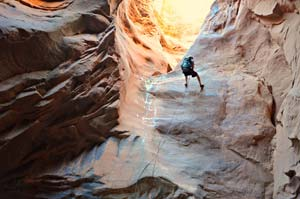 Morning Glory Arch Canyoneering - Adrift Adventures Moab Utah