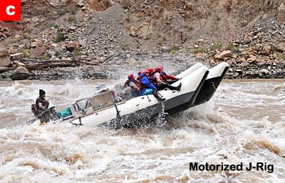 Motorized J-Rig in Cataract Canyon