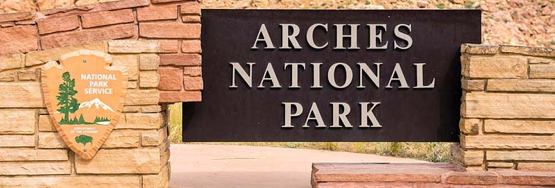 Arches National Park Sign